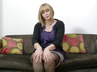 Mature auburn lady April is entirely into lively on their way wet pussy