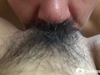 Hairy Asian enjoys a hard core nailing occasion