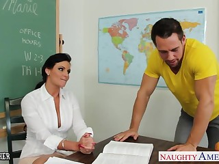 Chesty teacher Phoenix Marie just about cock in classroom