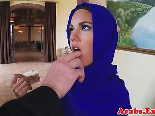 Muslim looker fucks for cash