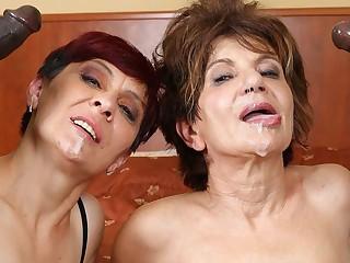 Grannies Hardcore Fucked Interracial Porn with Venerable Body of men mating