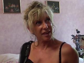 Refrigerate Cochonne - Mature blonde French newbie gets cum covered