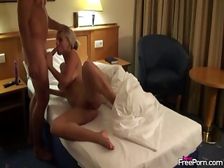 Hot sex encircling slut in B & B