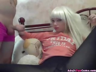 Baby-Faced Blond Teenager With Big Rump Sucking Prick And Gets Pounded