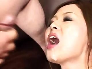 homemade clumsy deepthroat blowjob and facial cumshot
