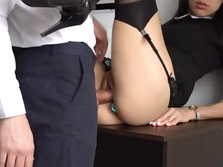 Ass Fucking Internal Ejaculation For Magnificent Super-Bitch Assistant, Saucy Smashed Her Cock-Squeezing Cooter And Culo!