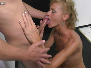 Son licks together with fucks hot mature not his mom