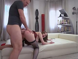 Toy gospel whore Lina Mercury takes Rocco's valorous cock into the brush asshole