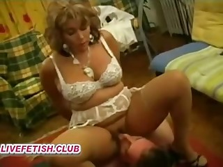french hairy old woman femdom together with young doll underling