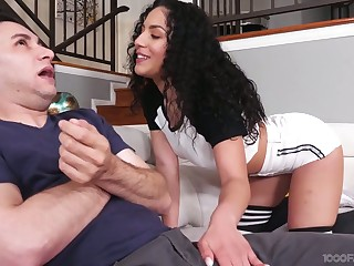 Talkative black head Liv Revamped gives such an impressive blowjob