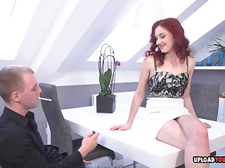 Exciting redhead gives a oral forwards congress have a crush on