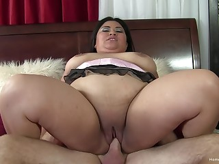 BBW Asian certainly knows how less fuck and swallow slay rub elbows with jizz