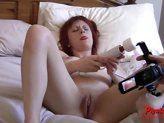Naked Aged Brit Camera Man Films Ember Elektra Masturbating