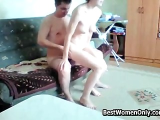 Horny Amateur Russian Get hitched Fuck Young Guy