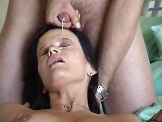 Hot milf fucked doggystyle and get a big facial