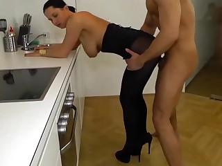 Hot Deutsch in ouvert Strumpfhosen schön fuckes