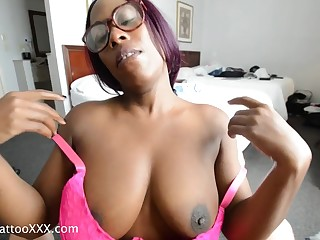 Sammie Ross ebony pet POV Hotel Fun
