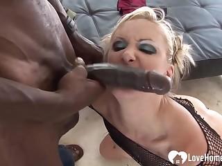 Blond Hair Girl loves her stepdad's chubby coloured penis