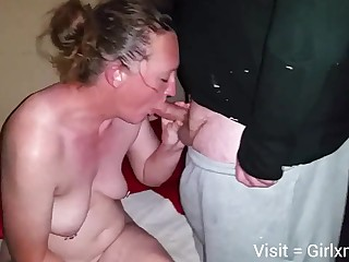 Mature white wife with hubby added to black bull