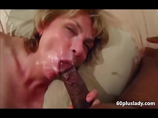 Older wed sucking bbc and get farther facial