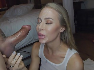 Nicole Aniston sexually attractive white-headed crawl young gentleman