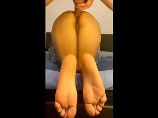 Perfect ass girlfriend doggystyle fucked - Nice feet par