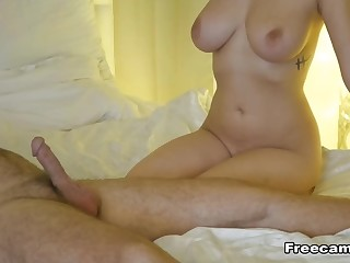 Hot couple is going for an sensitive blowjob and doggystyle.