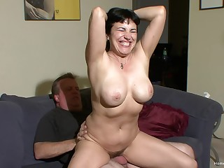 Horny couple Claudine with an increment of James are ready to go on with an increment of cant wait to fuck!