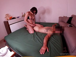 Exciting hung brazilian babe turns sponger into fuckdoll