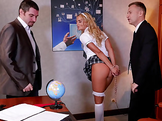 Schoolgirl gets punished